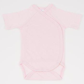 Body capse laterale maneca scurta roz pal - material multistrat premium cu model