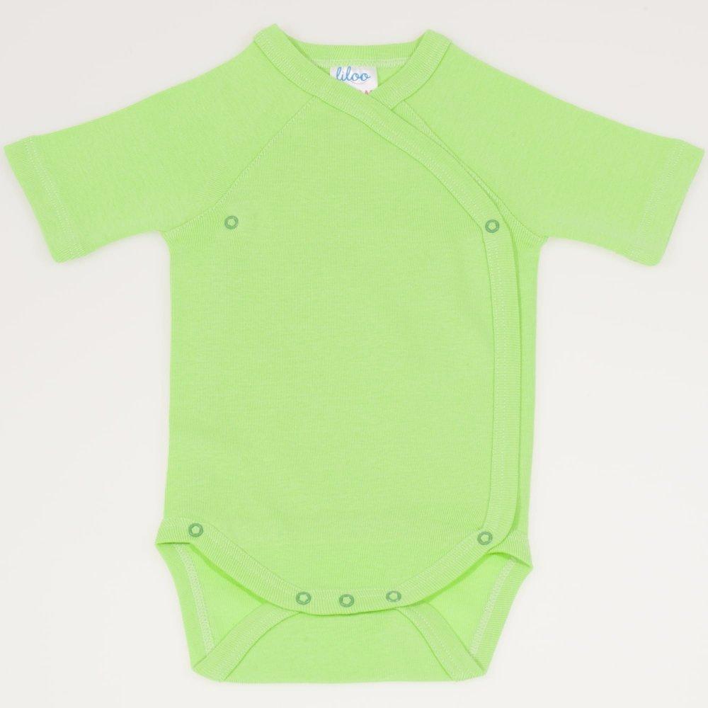 Body capse laterale maneca scurta summer green uni | liloo