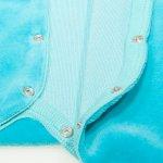 Salopetă catifea - mânecă lungă și pantaloni cu botoșei turcoaz | liloo