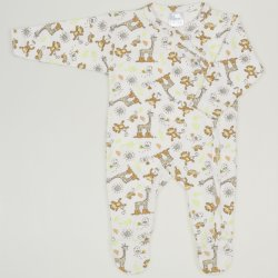 Long-sleeve sleep & play with footies with jungle print