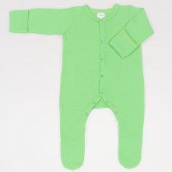 Irish green long-sleeve sleep with gloves - center-snap