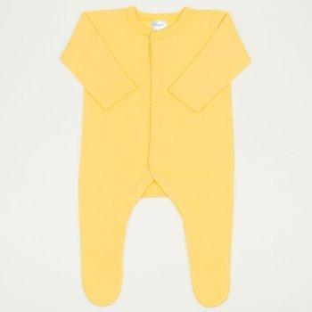 Salopeta maneca lunga si pantaloni cu botosei minion yellow uni - inchidere frontala
