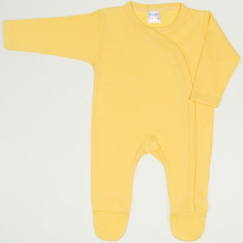Salopeta maneca lunga si pantaloni cu botosei minion yellow uni| liloo