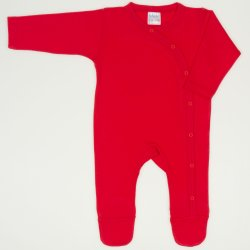 Red tomato long-sleeve sleep & play with footies