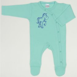 Cockatoo long-sleeve sleep & play with footies with horse print
