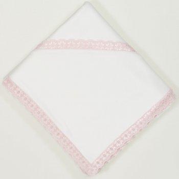 Panza botez (crasma) ecru cu dantela roz | liloo