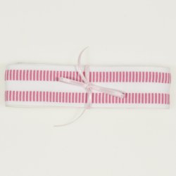 Pink with white christening swaddle