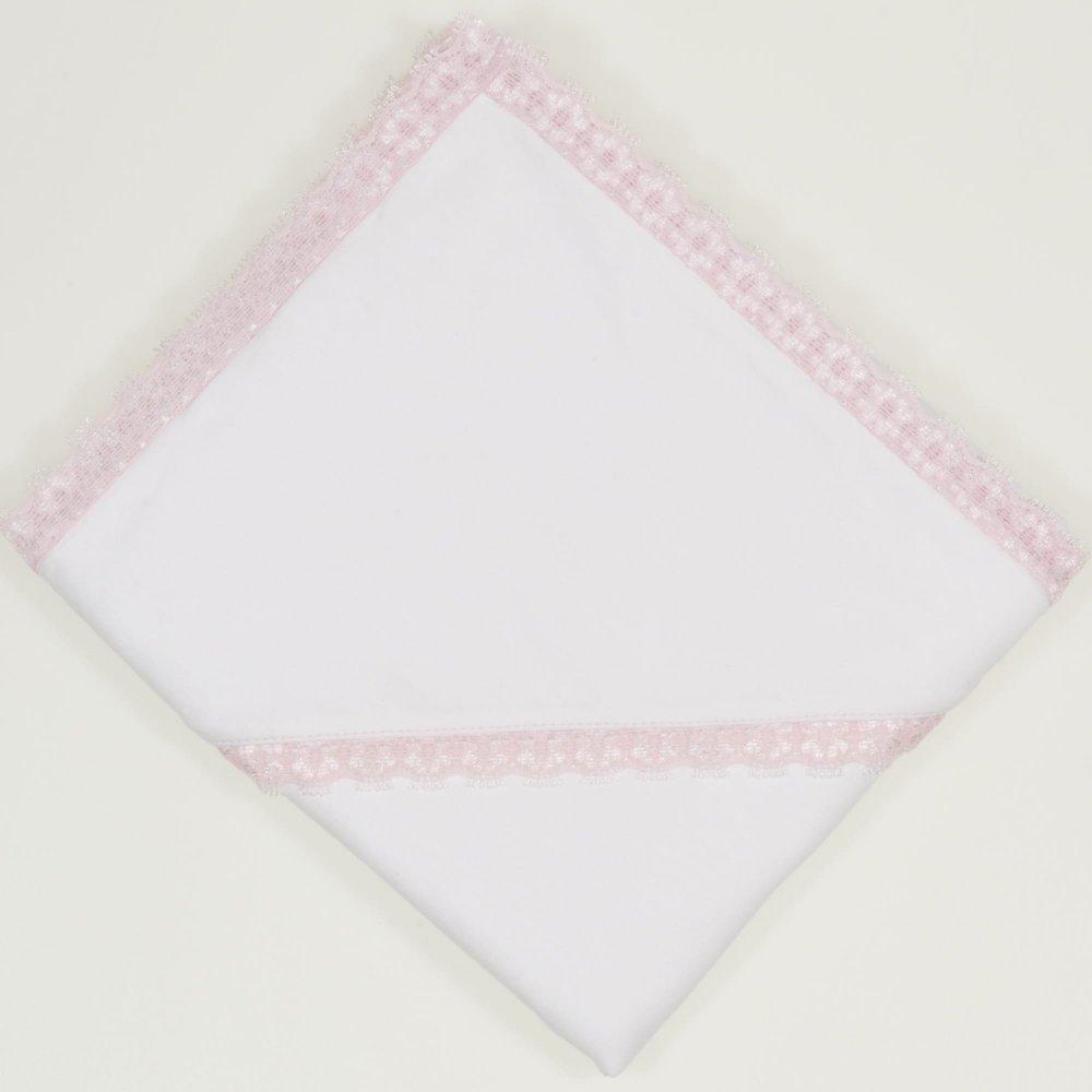 Crasma botez alba cu dantela roz  | liloo