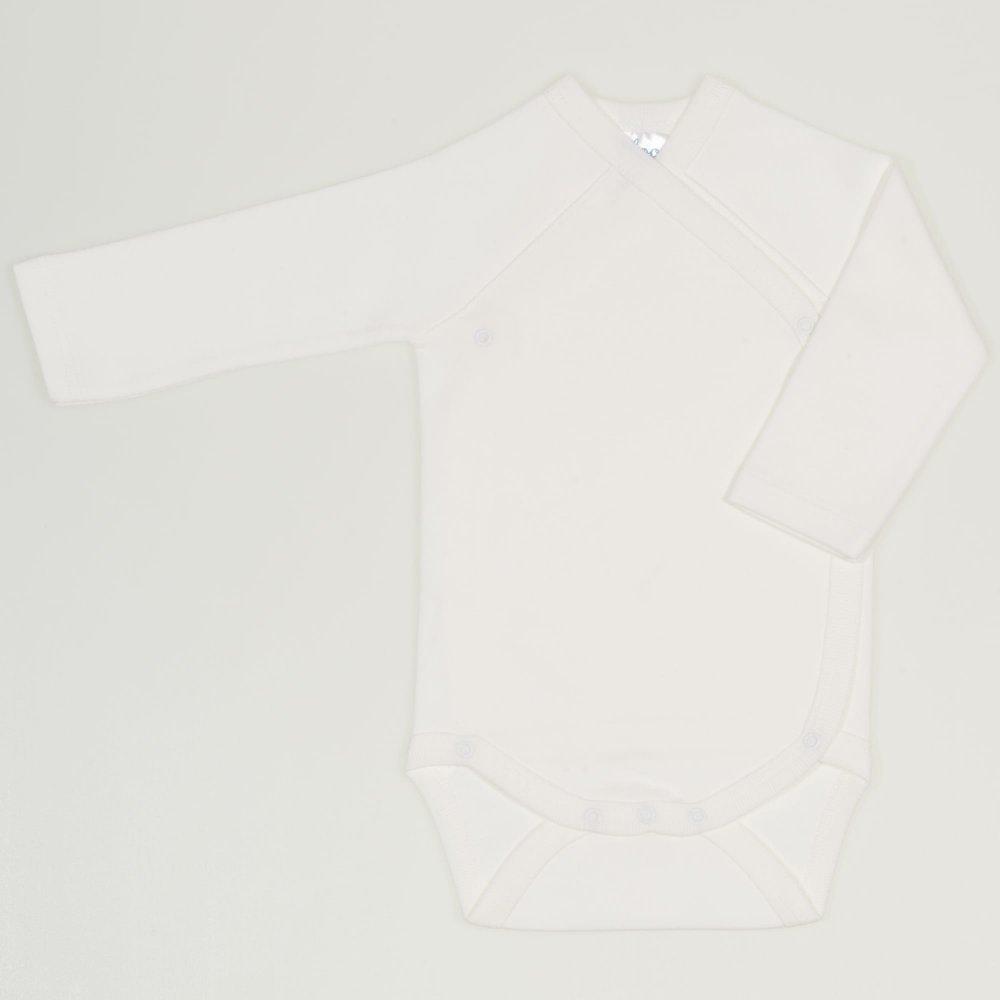 Body capse laterale maneca lunga blanc de blanc uni | liloo
