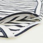Body capse laterale maneca lunga alb cu dungi negre | liloo