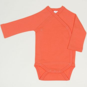 Body capse laterale maneca lunga somon living coral uni | liloo