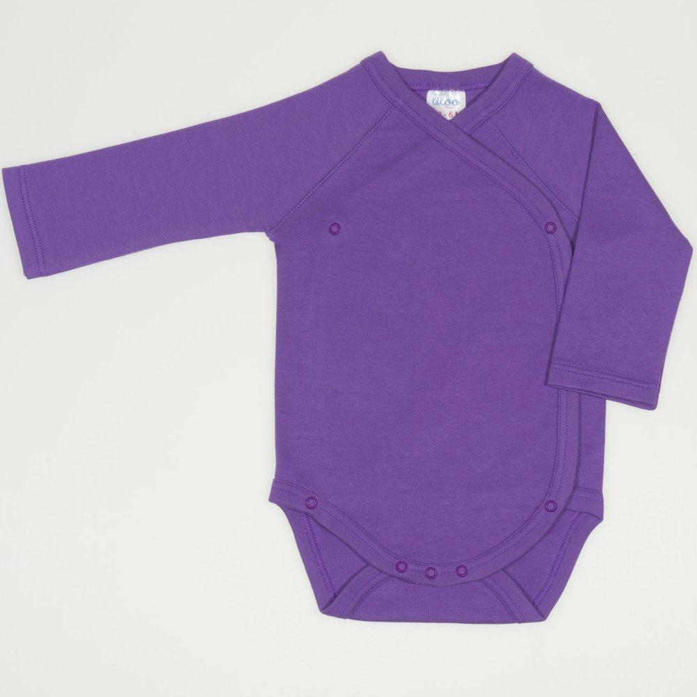 Body capse laterale maneca lunga mov deep lavender uni  | liloo