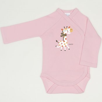 Body capse laterale maneca lunga orchid pink imprimeu girafa  | liloo