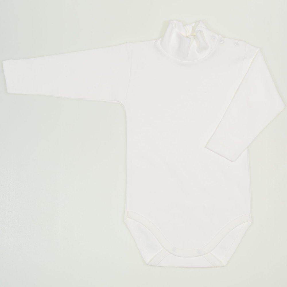 Body maneca lunga tip helanca (maleta) blanc de blanc uni | liloo