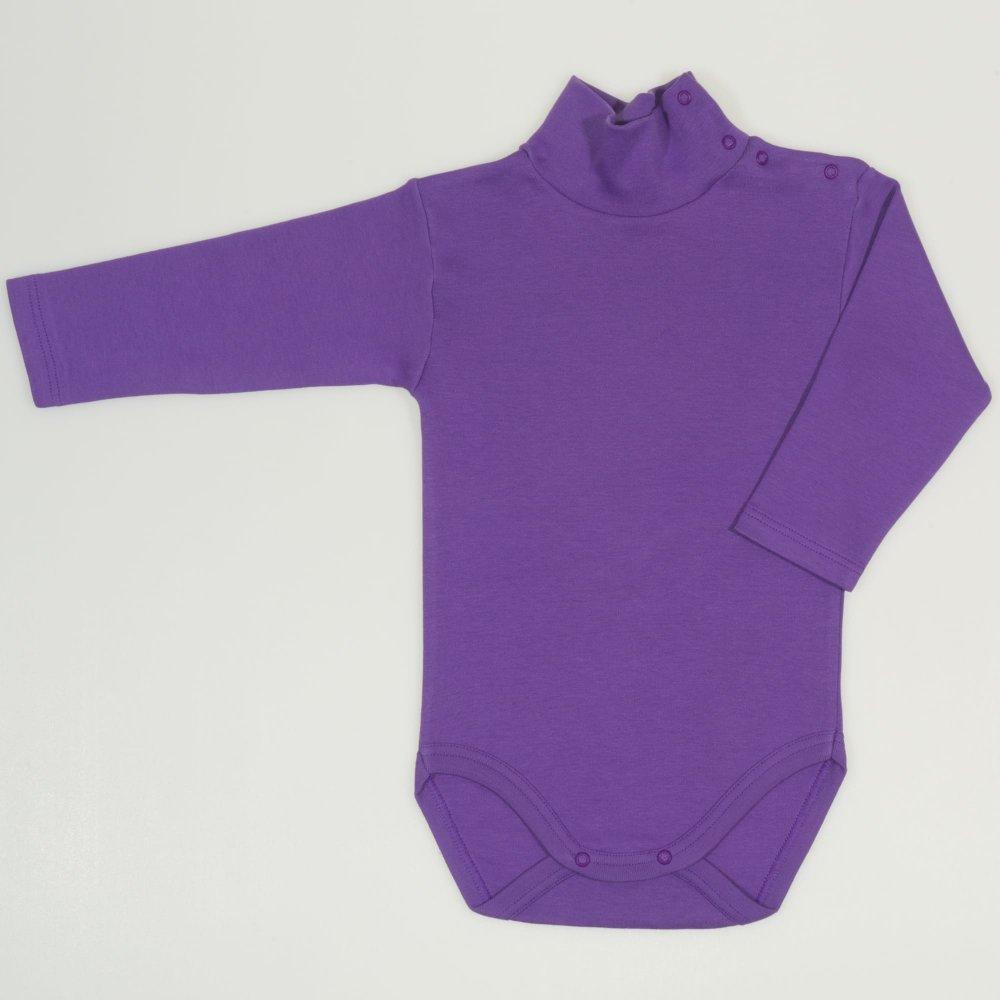 Body maneca lunga tip helanca (maleta) mov deep lavender uni | liloo