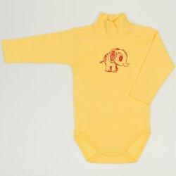 Body maneca lunga tip helanca (maleta) minion yellow imprimeu elefantel