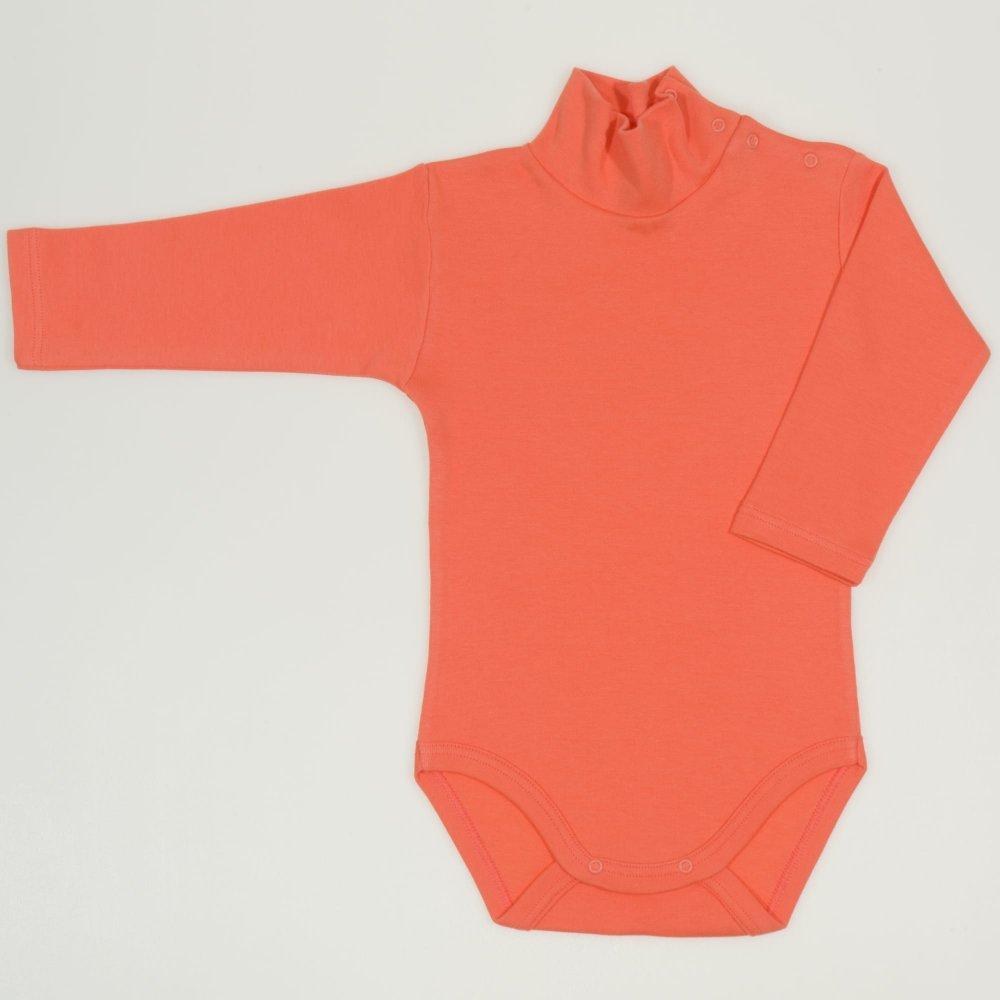 Body maneca lunga tip helanca (maleta) somon living coral uni | liloo