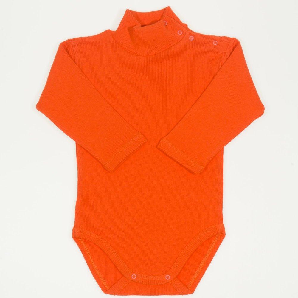 Body maneca lunga tip helanca (maleta) gros portocaliu uni | liloo