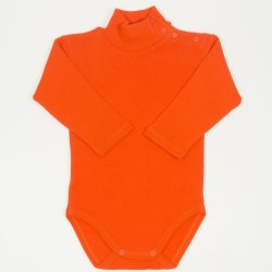Orange thick turtleneck bodysuit