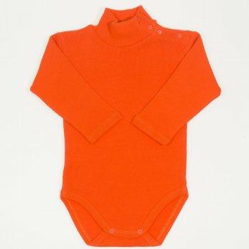 Body maneca lunga tip helanca (maleta) gros portocaliu uni