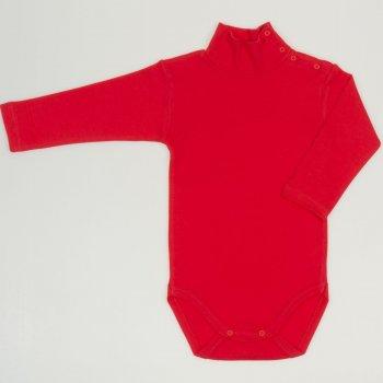 Body maneca lunga tip helanca (maleta) rosu tomato uni | liloo