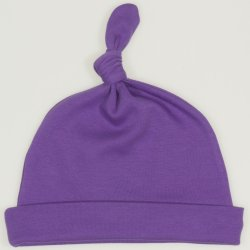 Purple deep lavender baby hat with tassel