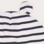 Caciulita cu urechi - alba cu dungi negre | liloo