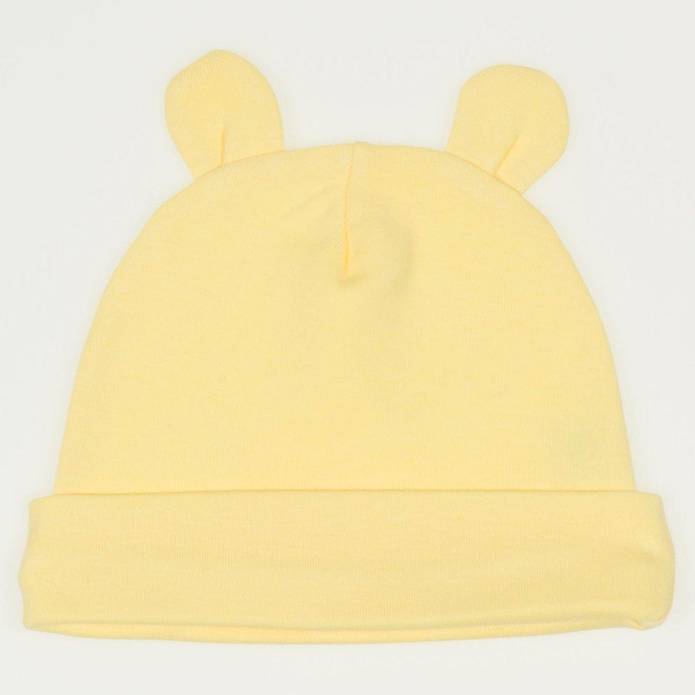 Căciuliţă galbena cu urechi | liloo