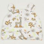 Set bebelusi 3 piese - pantaloni, caciulita si manusi - imprimeu model jungle | liloo