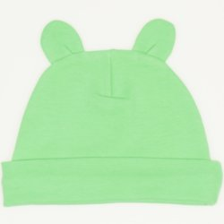 Irish green baby hat with toy ears