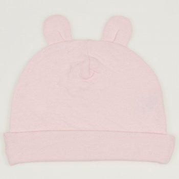 Caciulita cu urechi roz pal - material multistrat premium cu model