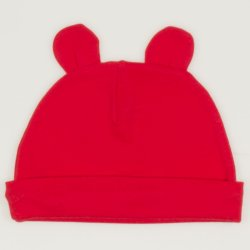Red tomato baby hat with toy ears