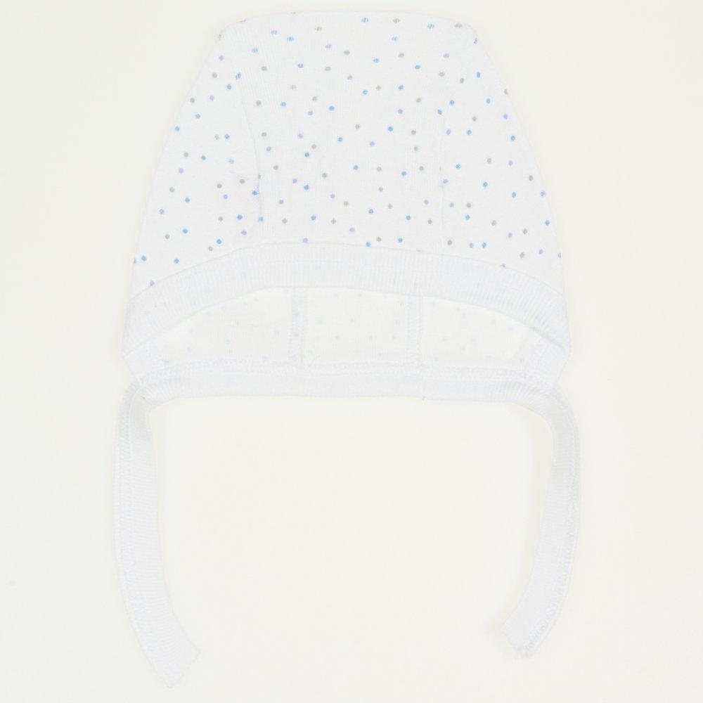 Căciuliţă albă cu buline multicolore | liloo