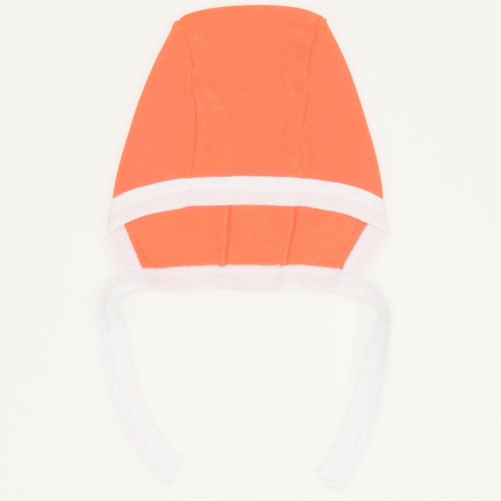 Caciulita tip boneta - portocaliu cu alb| liloo