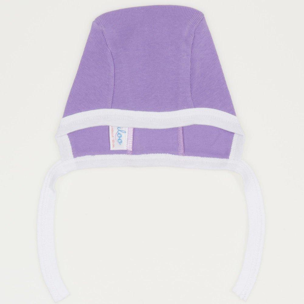 Căciuliţă violet & alb | liloo