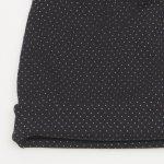Set fes si fular circular - negru model puncte albe | liloo.ro
