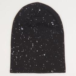 Fes negru - model stropi albi