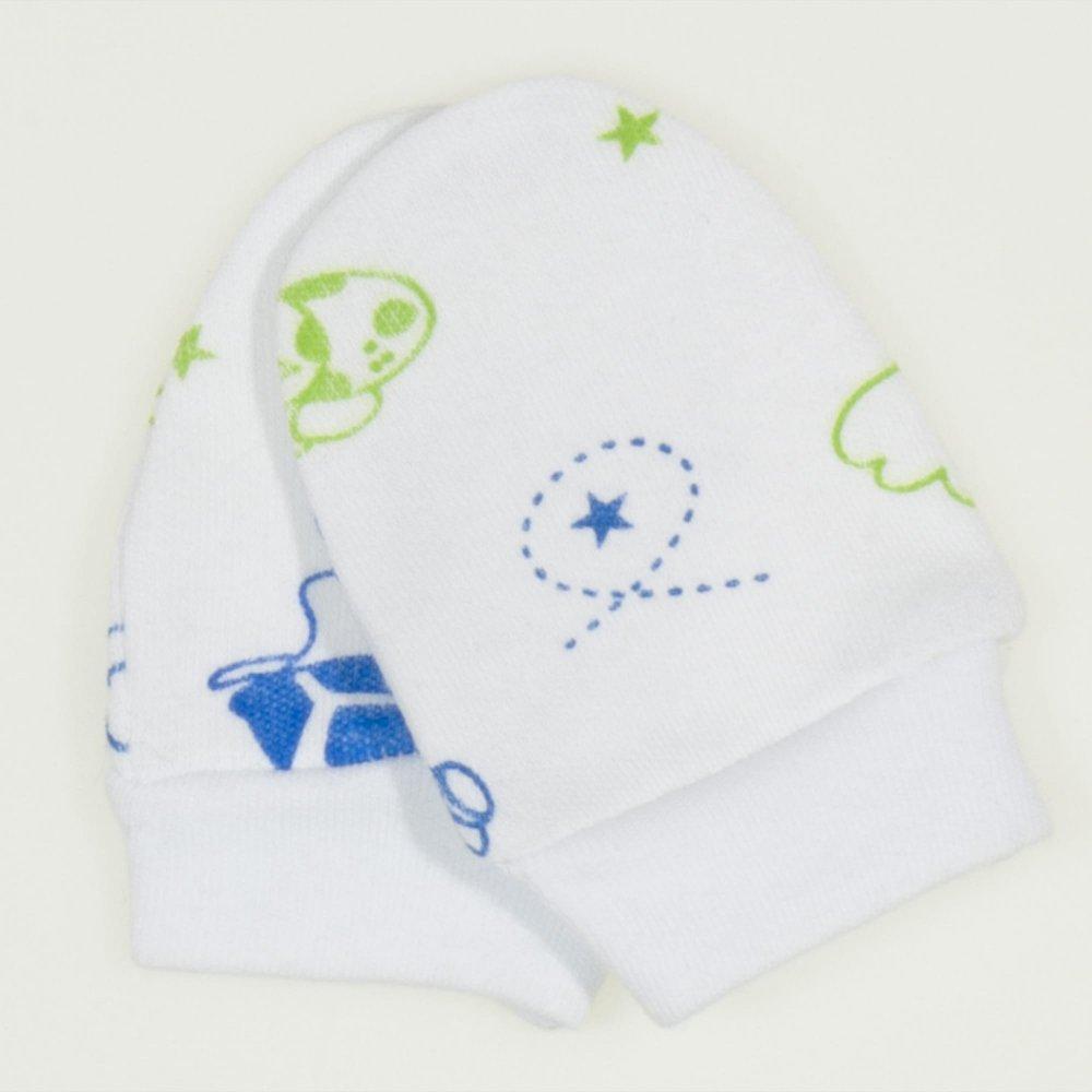 Mănuşi albe nou-născut imprimeu model testoase | liloo