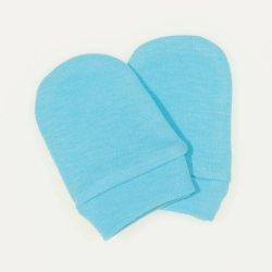 Aqua newborn gloves