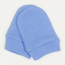 Azure newborn gloves