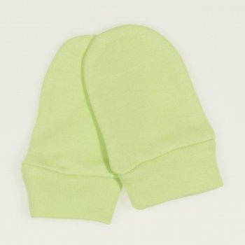 Mănuşi verde lime nou-născut