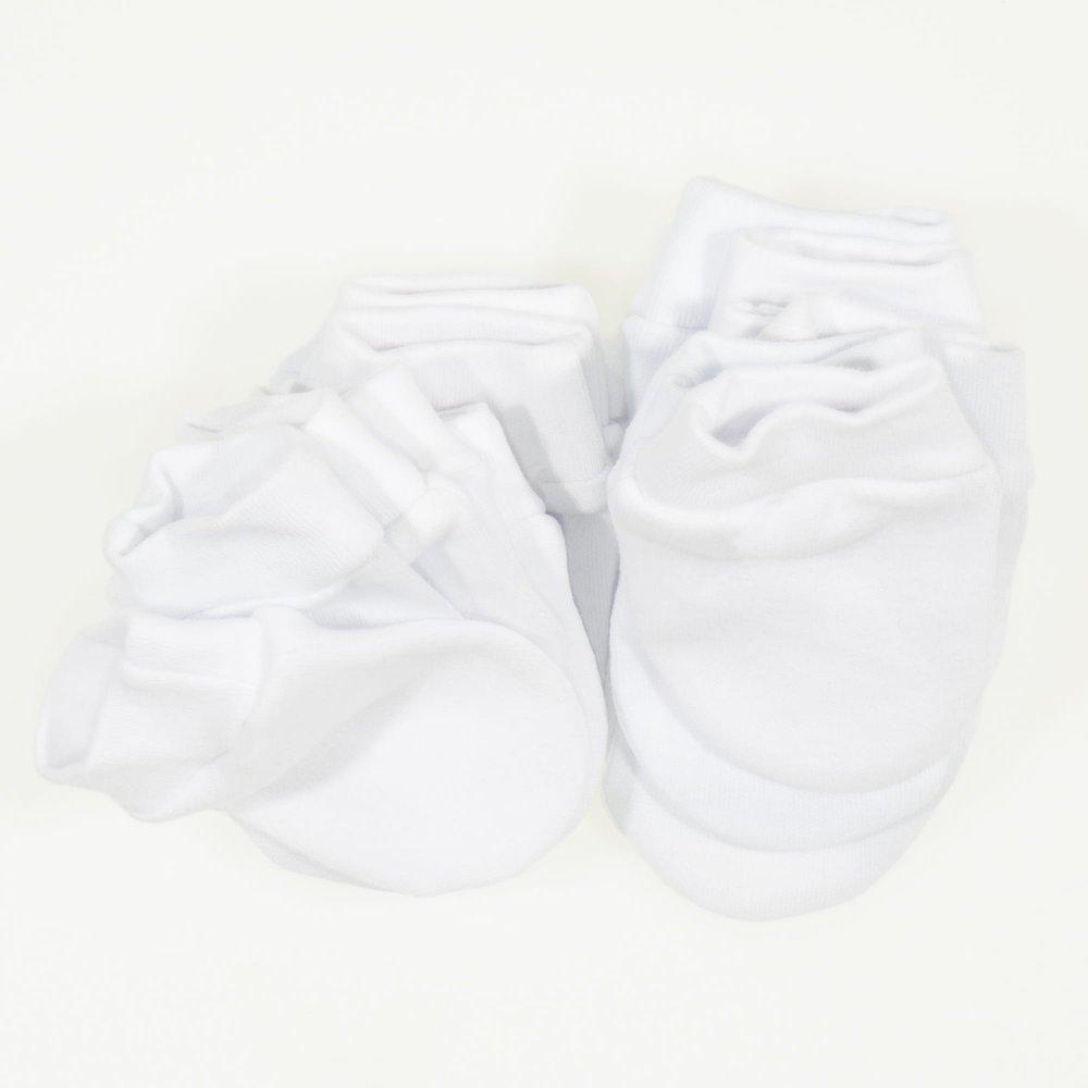 Manusi albe nou-nascut - set 10 bucati | liloo