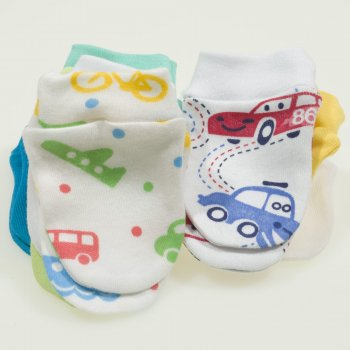 Manusi nou-nascut - set 10 perechi culori baieti