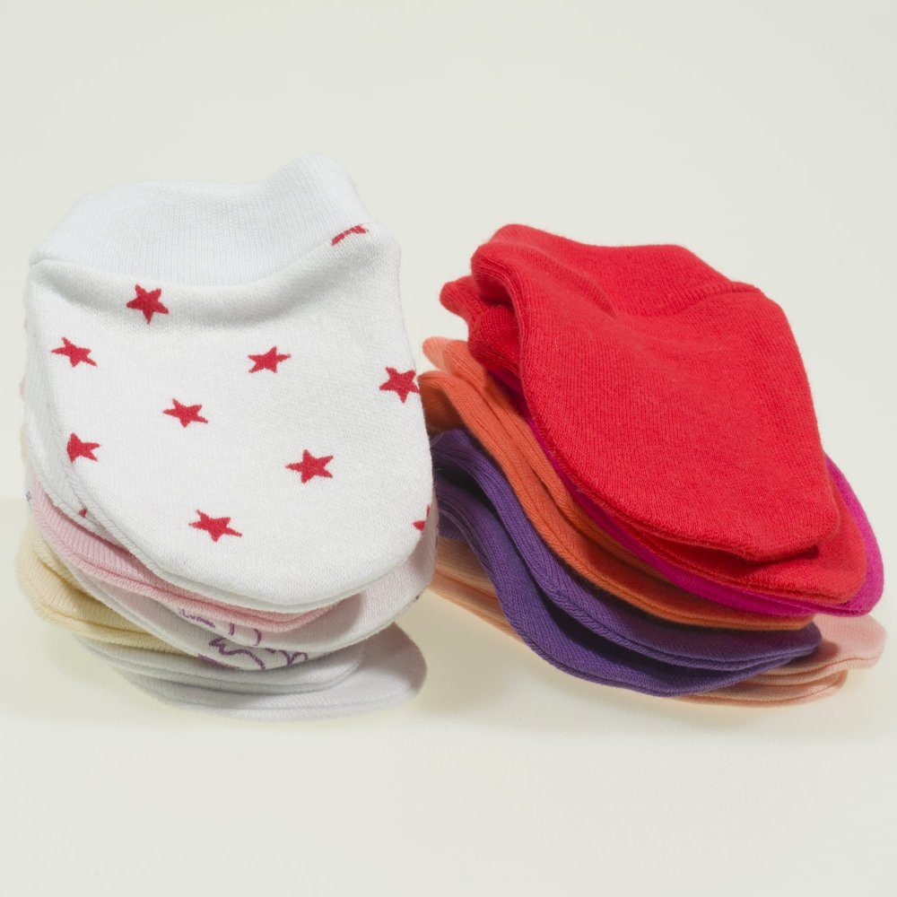 Manusi nou-nascut - set 10 perechi culori fetite | liloo