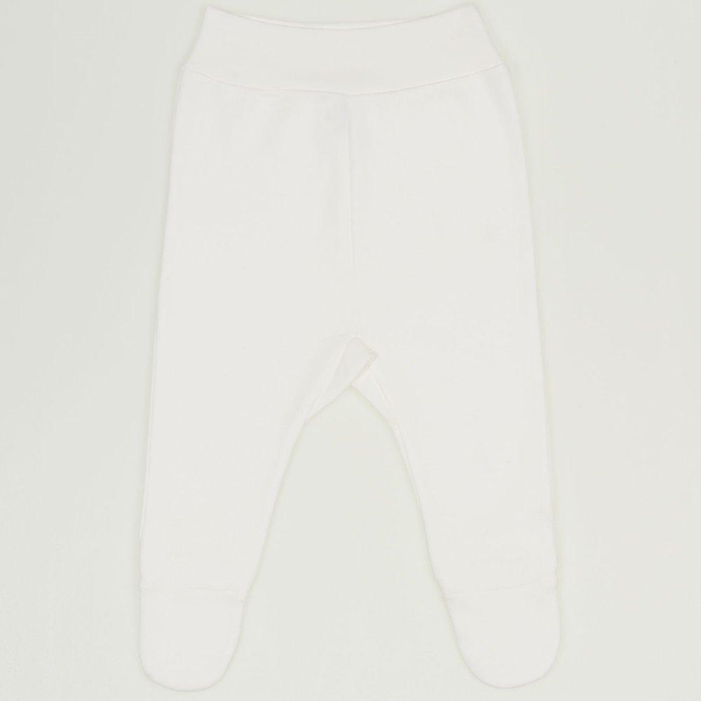 Pantaloni cu botosei banda blanc de blanc | liloo