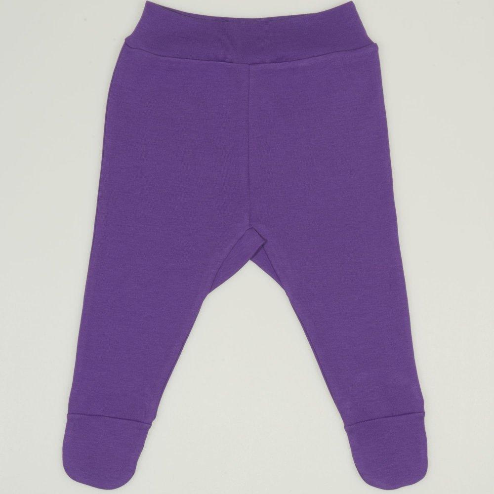 Pantaloni cu botosei banda mov deep lavender | liloo