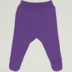Pantaloni cu botosei banda mov deep lavender