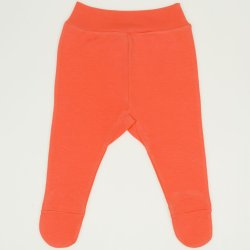 Pantaloni cu botosei banda somon living coral