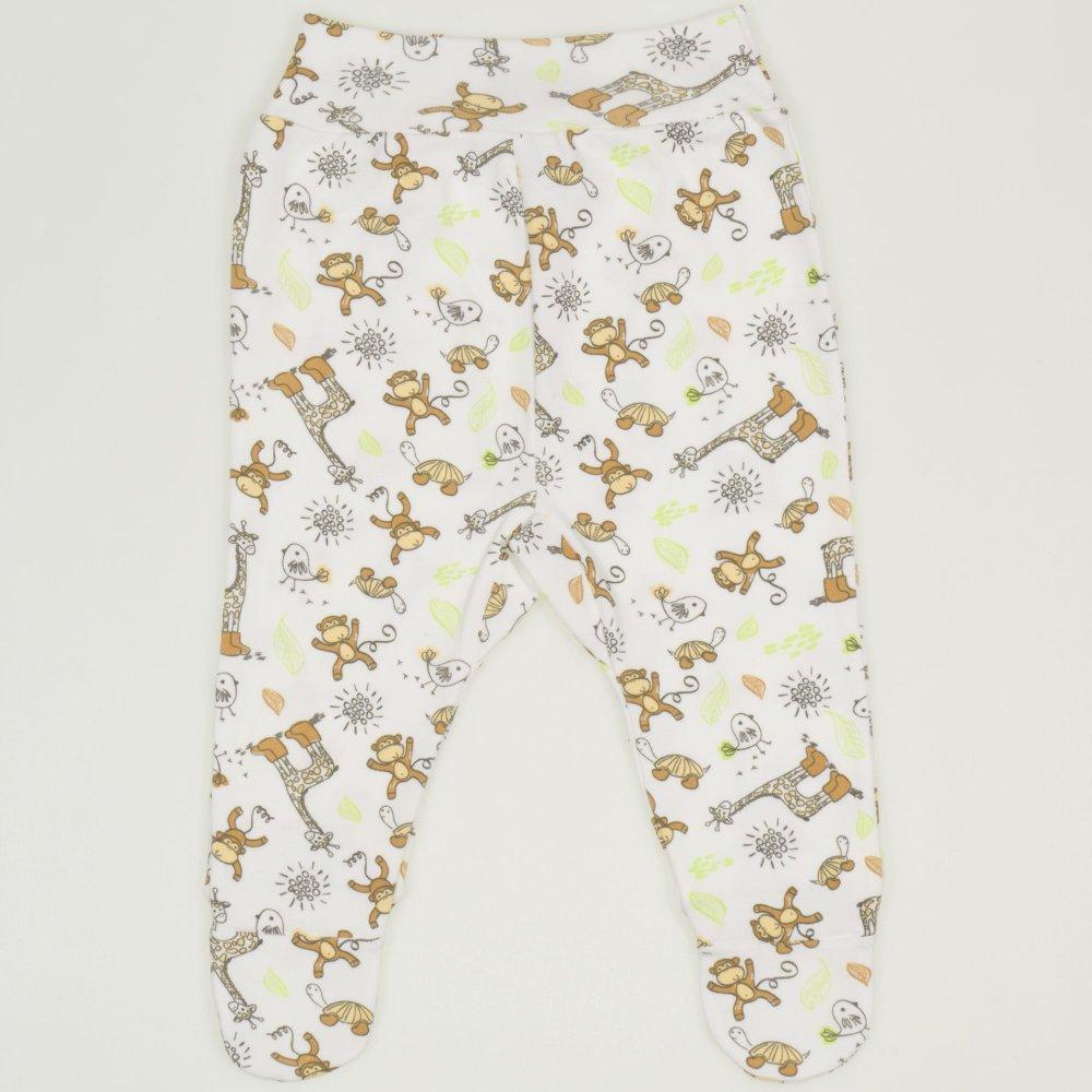 Pantaloni cu botosei banda imprimeu model jungle   liloo