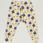 Pantaloni cu botosei banda imprimeu model stars-rockets | liloo